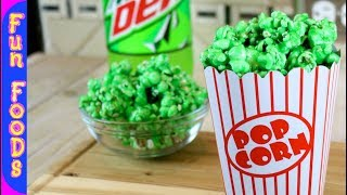 Mountain Dew Flavored Popcorn | How to Make Candy Popcorn