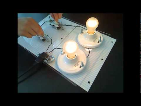 Two switch, two light circuit explained  YouTube