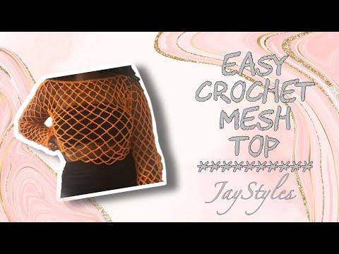 DIY Crochet Mesh Cover Up Top | Simple & Easy Mesh Top Tutorial