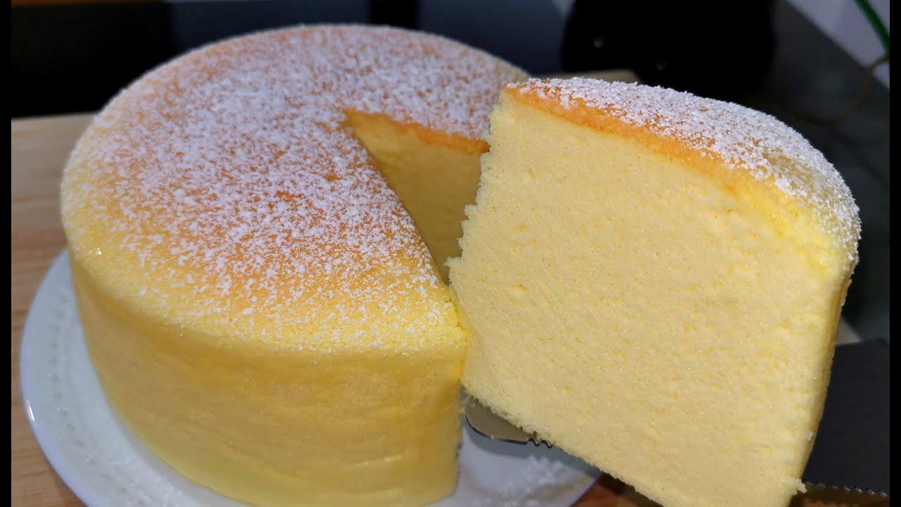 日式輕乳酪蛋糕/酸奶蛋糕奶油奶酪/Japanese cheesecake/cotton cheesecake - YouTube