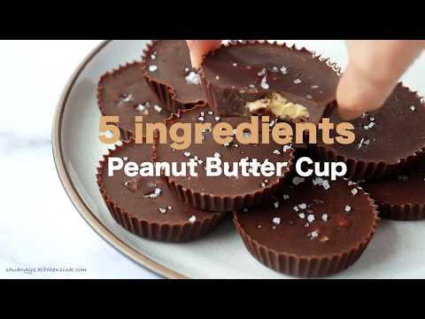 5 Ingredient Healthy Peanut Butter Cup (SO EASY)