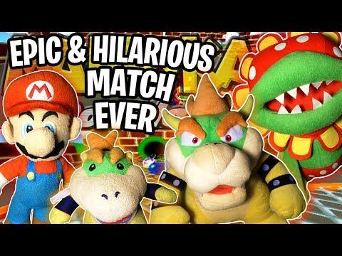 ABM: Mario & Bowser Jr Vs Bowser & Petey Piranha!! Mario Kart Double Dash !! Race & Battle !! ᴴᴰ
