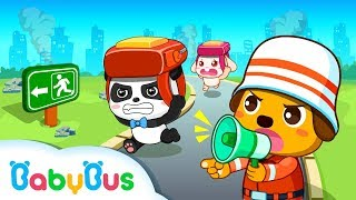 # Earthquake Safety Tips |  CHILDREN LEARN HOW TO BE SAFE | Baby Panda Game Play