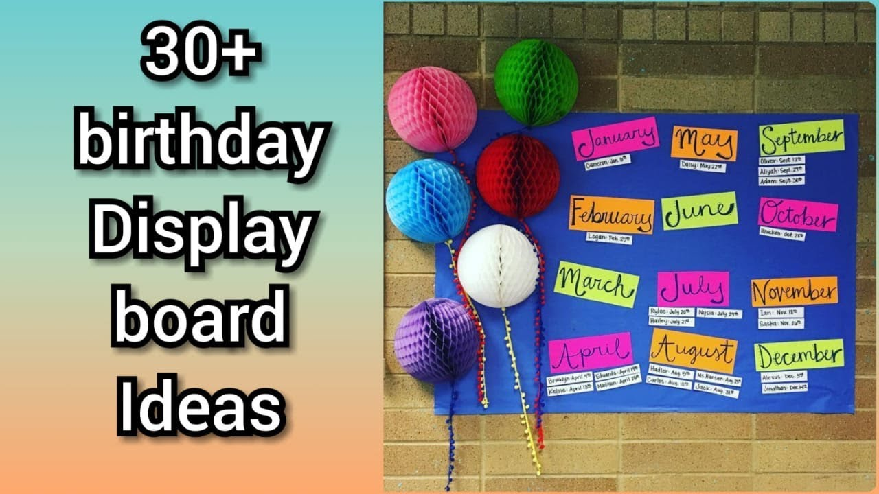 Birthday Display Board Ideas Stunning Birthday Bulletin Board Ideas Youtube