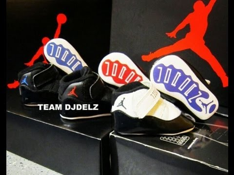 new style 102d1 a96f6 Air Jordan XI Spacejam,Concord & Bred 11 Infant Sneaker Review With @DjDelz