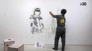 【春のもやしもん展 in 勝どき】石川雅之描き下ろし壁画作画風景 もやしもん リターンズ 検索動画 50