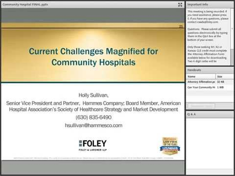 Can Your Community Hospital Remain Independent?