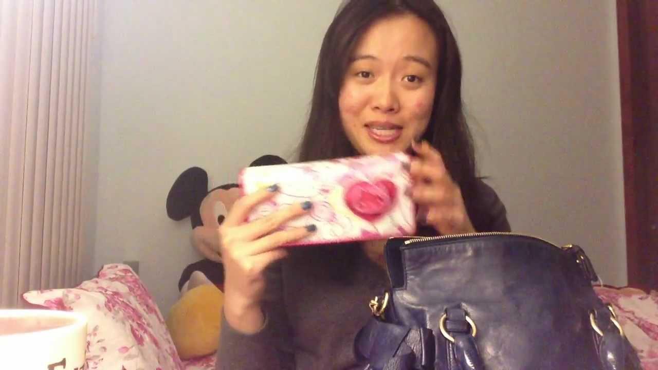 382d4d4d23b1 what s in my Miu Miu mini bow purse bag   - YouTube