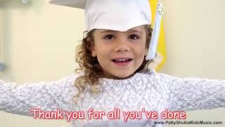 Graduation Song Thank you for kids, children \u0026 babies with lyrics Patty Shukla online video cutter c