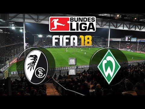FIFA 18 Bundesliga Sport-Club Freiburg : SV Werder Bremen | Gameplay Deutsch Livestream