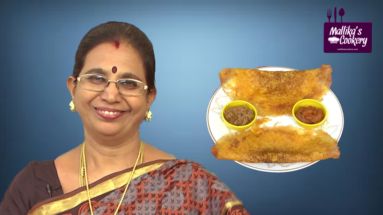 Carrot Dosa by Mallika Badrinath   Indian Dosa Recipe - YouTube