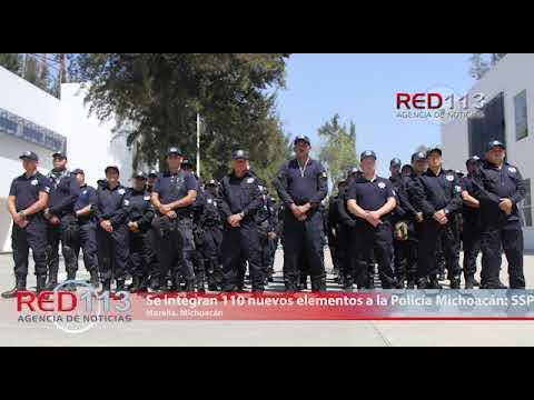 VIDEO Se integran 110 nuevos elementos a la Policía Michoacán: SSP