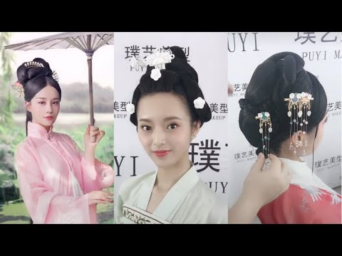 Beautiful Chinese old traditional hairstyles tutorial 👍👸