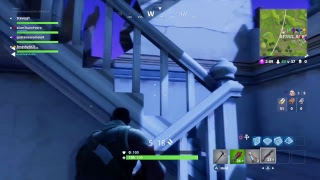 Fortnite live stream* going for first * part 3 [getting him lvd up
