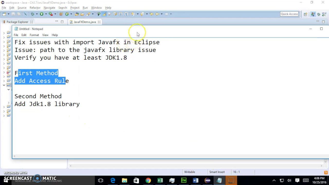 Fix JavaFX Import Error in Eclipse