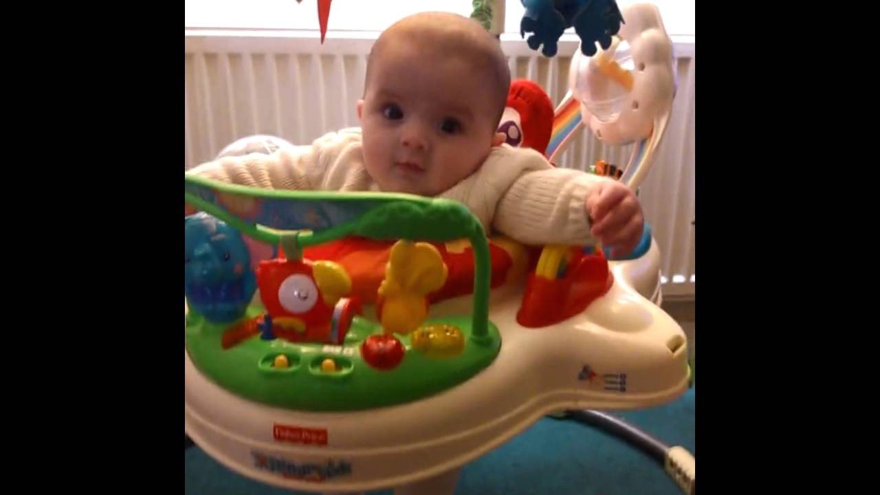 1052c0967 3 Month old in her rainforest jumperoo - YouTube