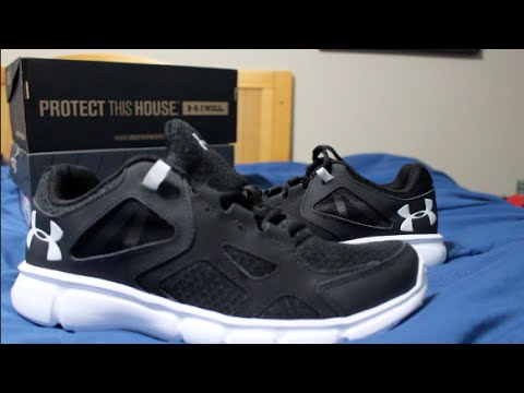 huge discount 64c72 40bcd Under Armour® Men's Thrill Running Shoes 1258794-001 - YouTube