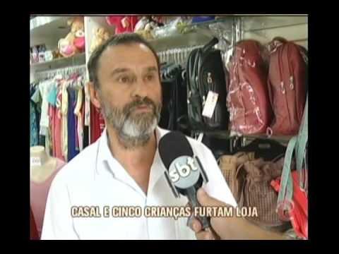 Casal usa ajuda de filhos para roubar loja