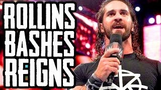 rollins shoots on reigns wwe raw results 6 27 16 going in raw ep 77