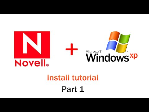 Novell Server Tutorial Install