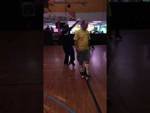 Roller Skating, Dina Roll, Paul Jr and Jerry Beck
