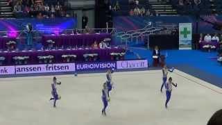 Юниорская сборная Азербайджана по худ. гимнастике. EC 2015, Minsk. Michael Jackson-Smooth Criminal