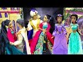 Disney Princess Aladdin and Jasmine Dress Up for Dance Party Pink Castle Ballroom