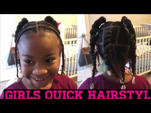 Quick Little Girls Hairstyle