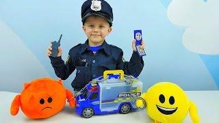 Полицейская Машинка и новая детская форма Полицейского Даника. Видео для детей про Машинки