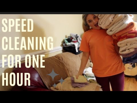 POWER HOUR CLEAN WITH ME |  ONE HOUR OF CLEANING | CLEAN WITH ME