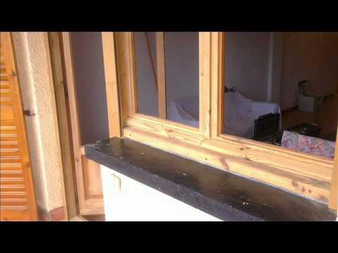 Restauracin de ventanas de madera en Prado Largo Jaca