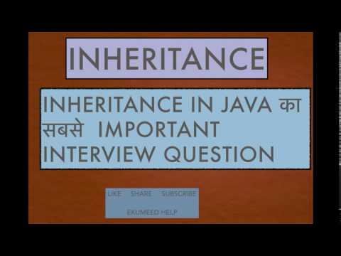Inheritance Important Question In Java