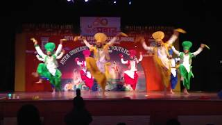 (HD) 2014-15 Punjabi University National (AIU) Bhangra Performance by PU