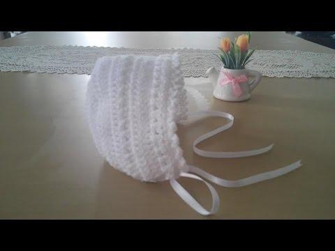 Gorrita para bebé: Como hacer una gorrita con capota en crochet o ...