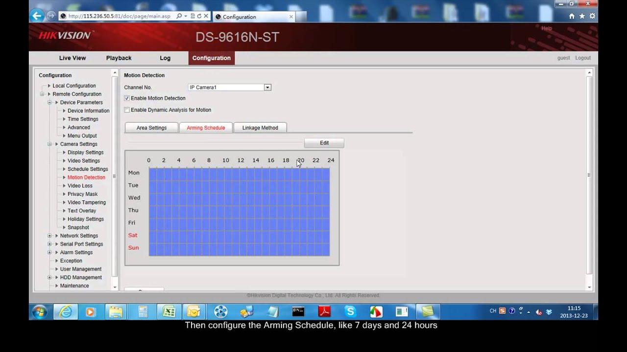 HIKVISION - Alarm Push Notification - Configuración