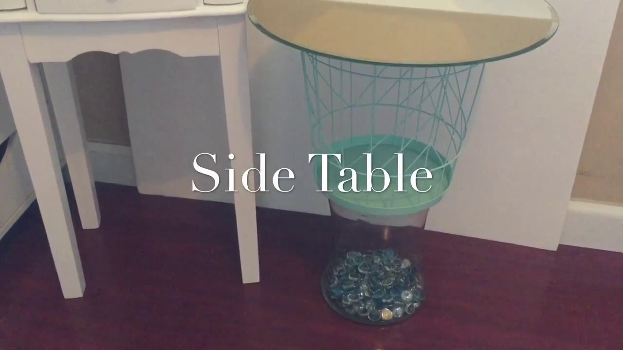 Dollar Tree Diy Side Table Youtube