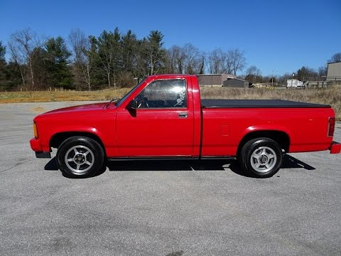 1989 Dodge Dakota Sport Pickup Truck V6  Walk around