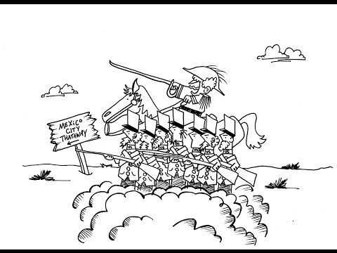 The Mexican American War (US Mexican War)!  A History Cartoon for School