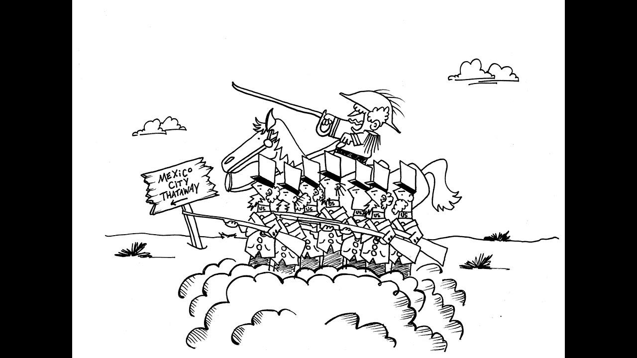 The Mexican American War (US Mexican War) Cartoon for School ...