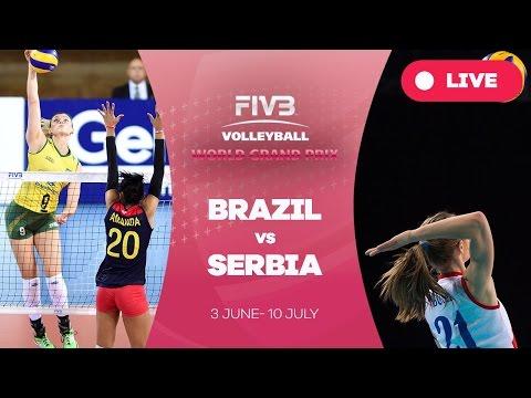 Brazil v Serbia - Group 1: 2016 FIVB Volleyball World Grand Prix