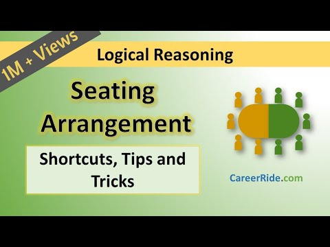 Seating Arrangement - Tricks & Shortcuts for Placement tests, Job Interviews & Exams