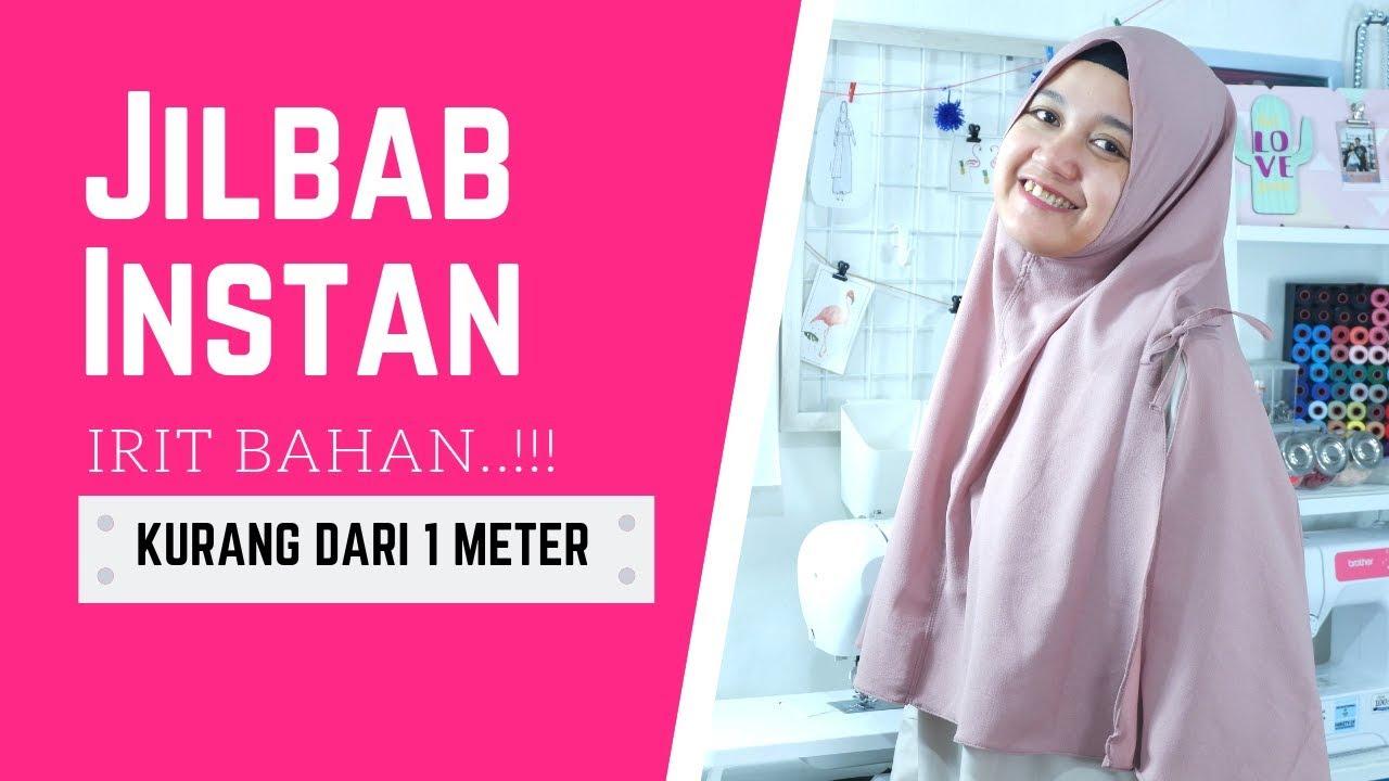 Cara Menjahit Jilbab Instan Segitiga [TANPA MESIN JAHIT] - YouTube