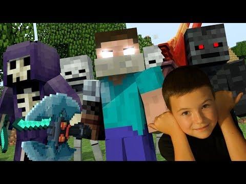 ХЕРОБРИН ? БОССЫ Мод Майнкрафт + МОД на БРОНЮ - Minecraft KokaPlay