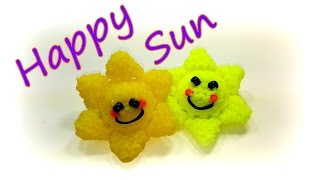 Happy Sun Tutorial by feelinspiffy (Rainbow Loom)