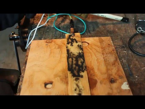 Zapping wood with electricity