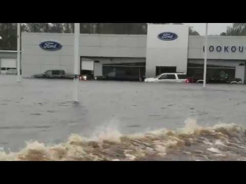 Flooding in Morehead City, NC.  Hurricane Florence. September 14, 2018.