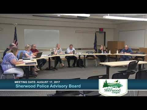 Sherwood Police Advisory Board meeting August 17, 2017