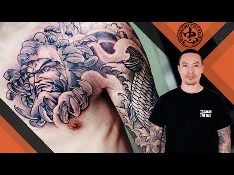 Hình Xăm CÁ CHÉP Và DARUMA | Koi Fish And Daruma Tattoo