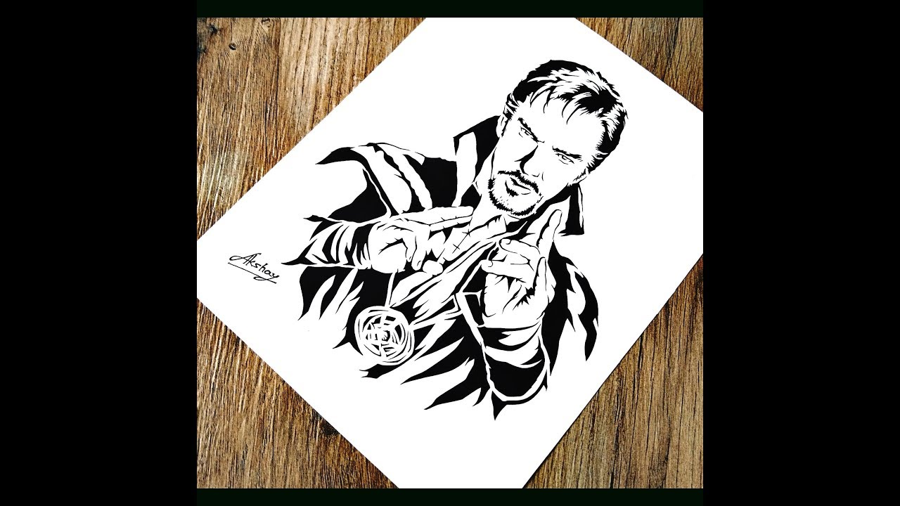 How To Draw Doctor Strange Step By Step Marvel Avengers End Game