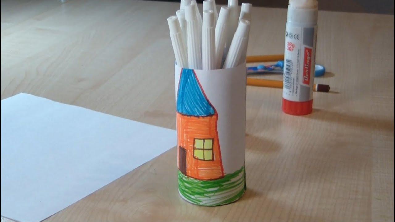 Как сделать стакан из бумаги для карандашей фото 998